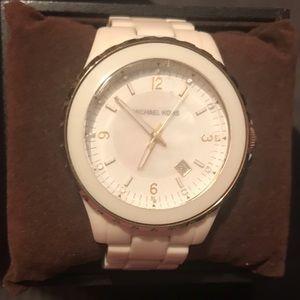 Women's Michael Kors Watch (color white/gold)